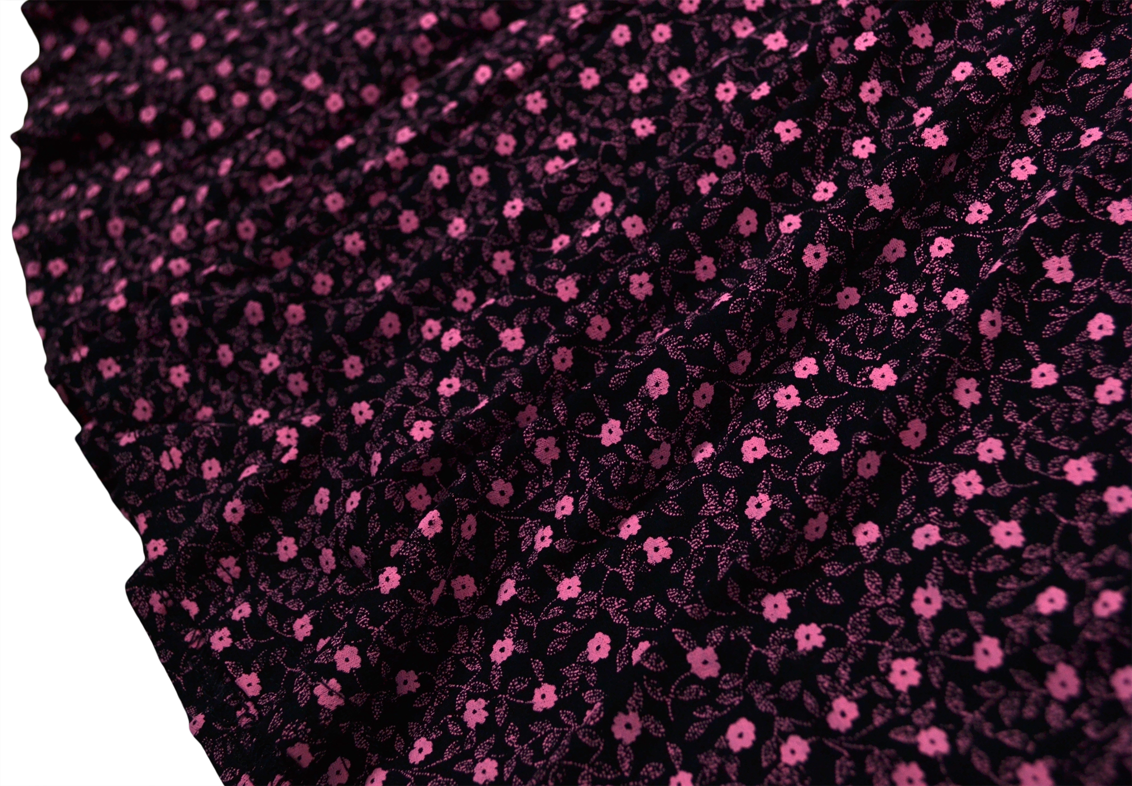 Girls-New-Ditsy-Floral-Skater-Dress-Kids-Party-Black-Dresses-7-8-9-10-11-12-13-Y thumbnail 8