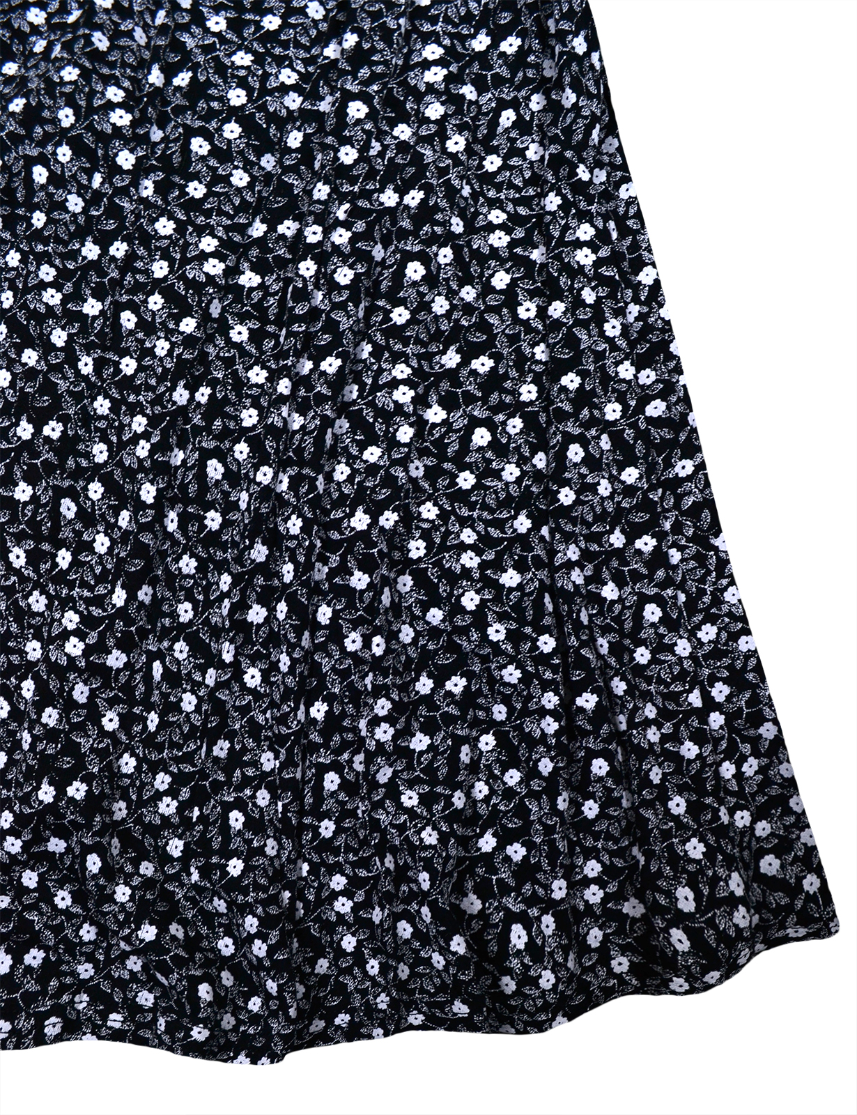 Girls-New-Ditsy-Floral-Skater-Dress-Kids-Party-Black-Dresses-7-8-9-10-11-12-13-Y thumbnail 12