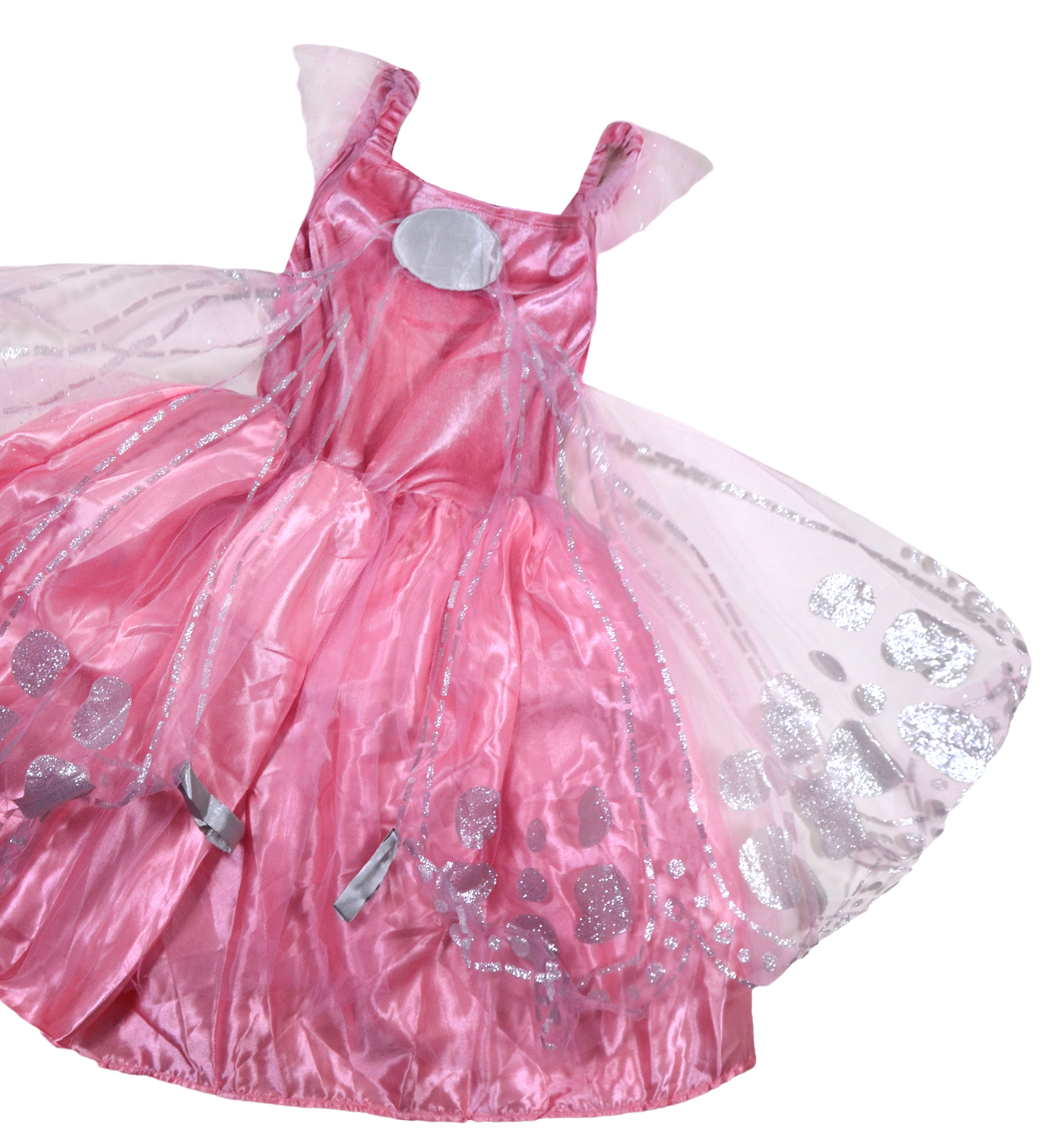 Girls Princess Dress Up Costume New Kids Pink Butterfly Wings Party ...