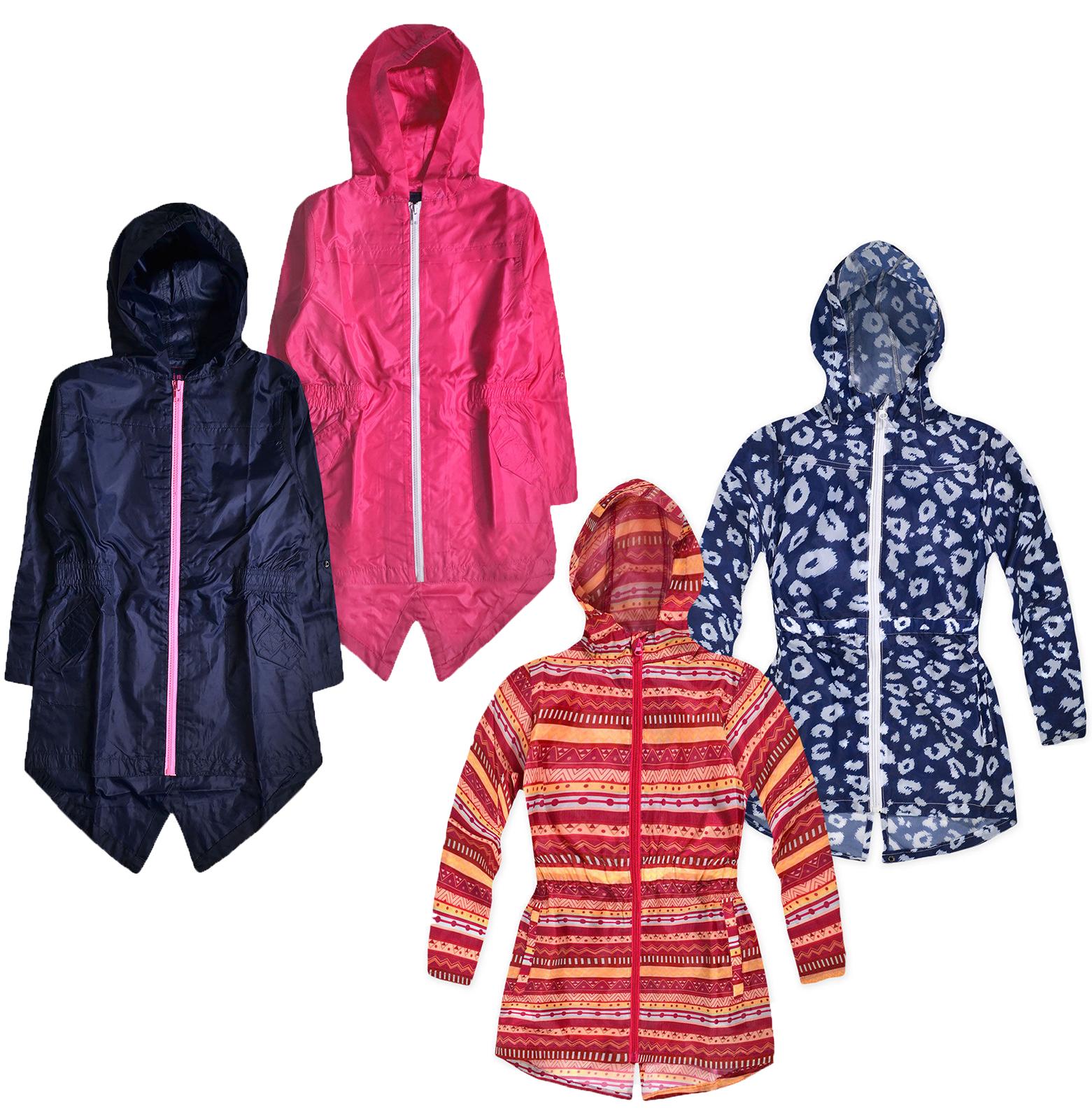e697e5ae7 Girls Waterproof Parka Jacket Kids Hooded Lightweight Rain coat Ages 2 - 8  Years