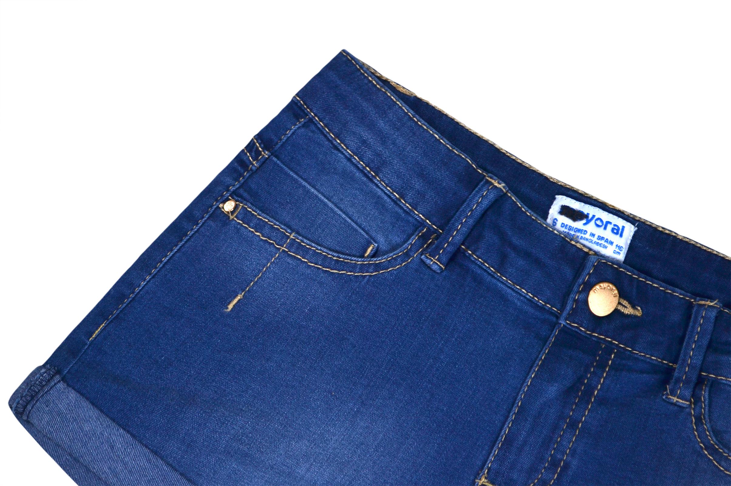 5a97e9084857 Girls Denim Shorts Kids New Summer Jeans Cotton Short Ages 2 3 4 5 6 ...