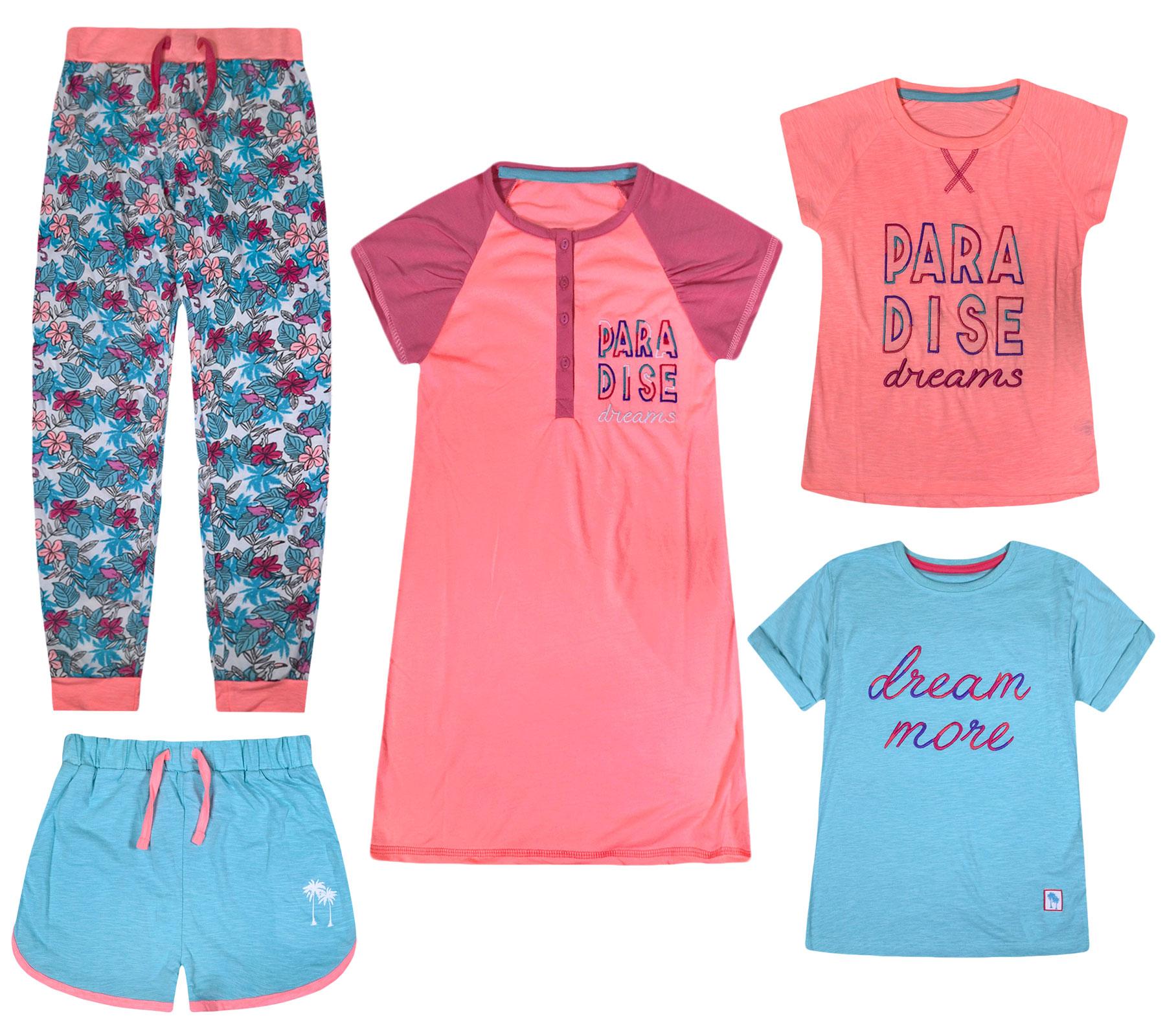 Machine Washable Graphic Short Length jolly rascals Girls Pyjama Shorts in Cotton Blend