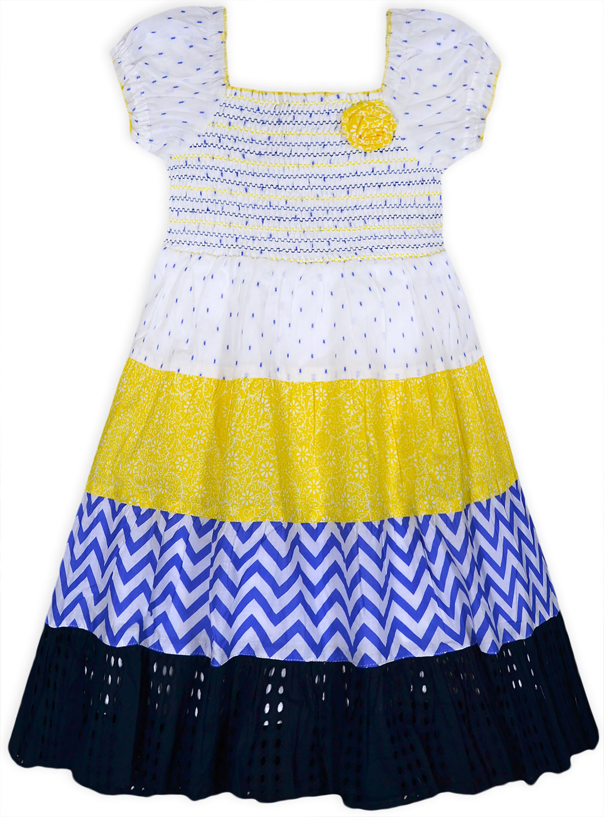 Girls Dresses New Kids Gypsy Summer Short Sleeved 100/% Cotton Dress 2-10 Years