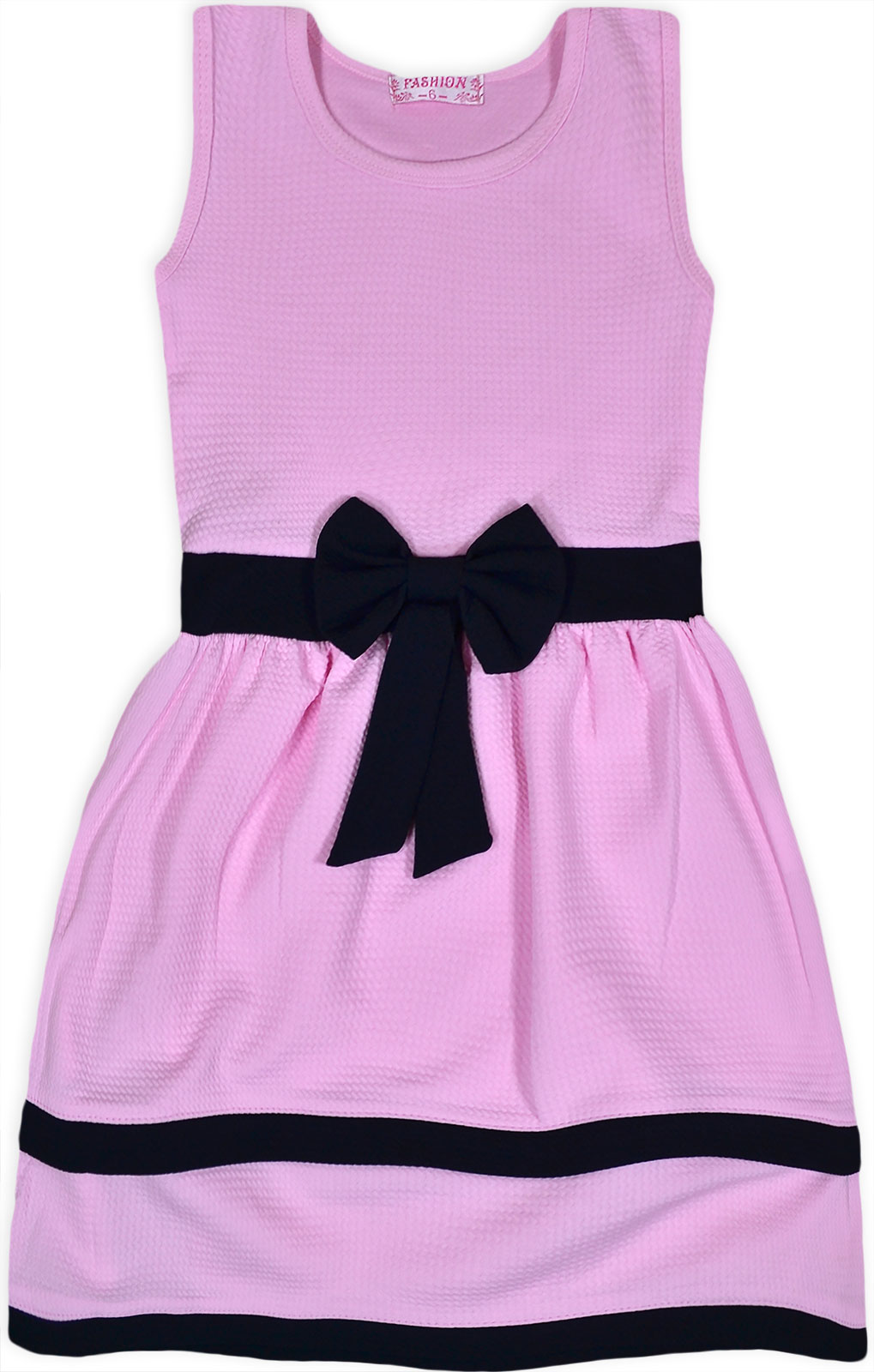 Girls Party Dress New Kids Sleeveless Dresses Summer Outfit Waffle ...