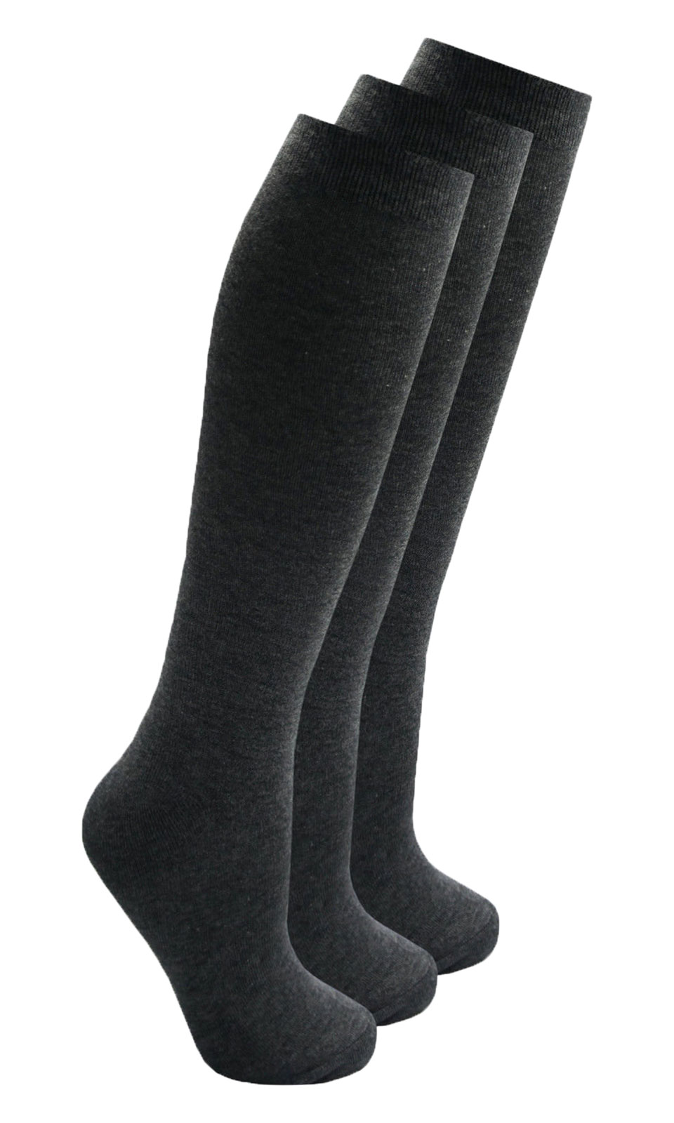 3 Pair Multi Pack Boys /& Girls Unisex Black Soft Cotton Rich School Socks