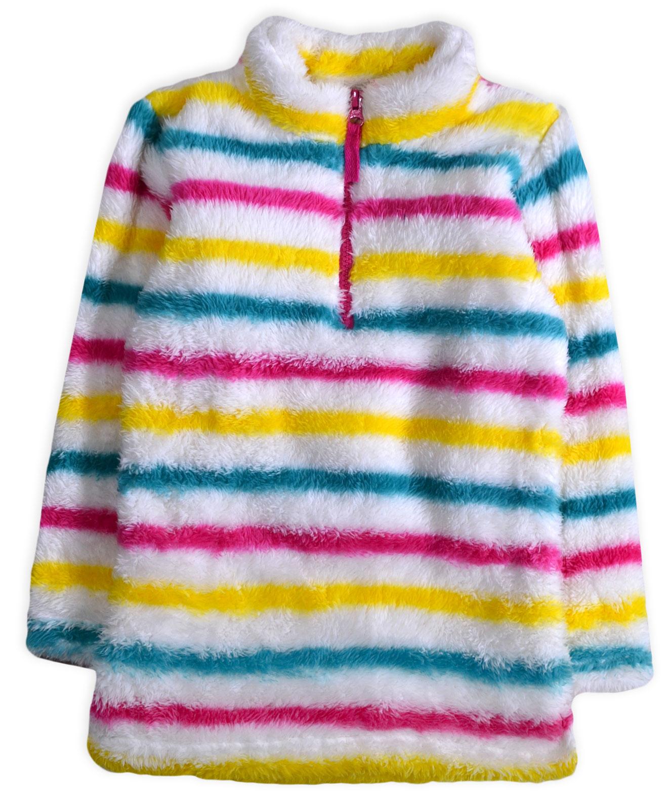 Kids-Fleece-Jumper-New-Boys-Girls-Stripe-Spot-Star-Pull-Over-Top-Ages-4-13-Yrs