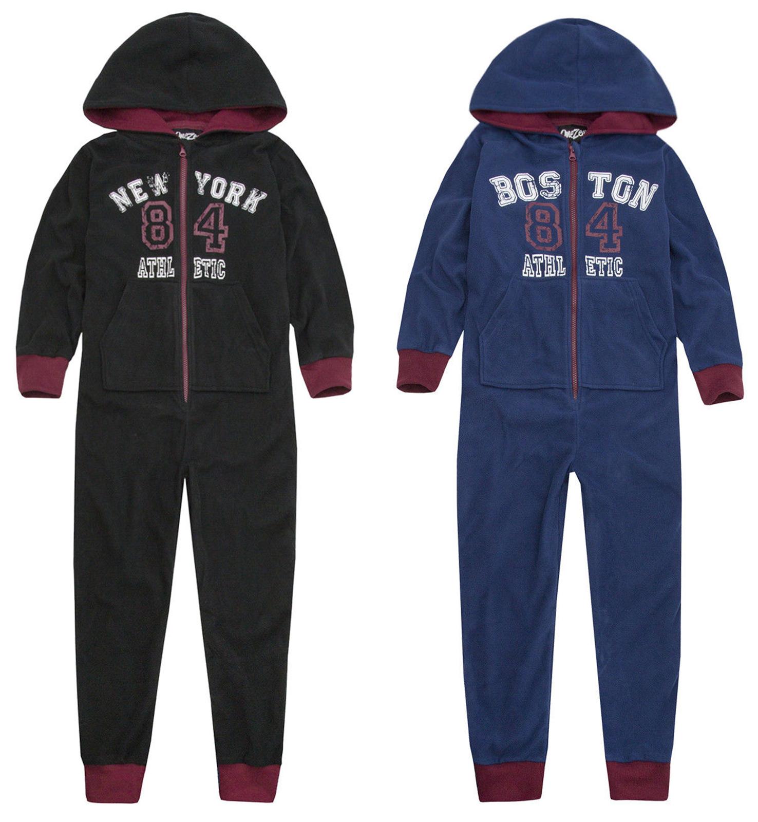 Boys 1Onesie1 Jumpsuit Pyjama New Kids Micro Fleece All In One Ages 7-13 Years