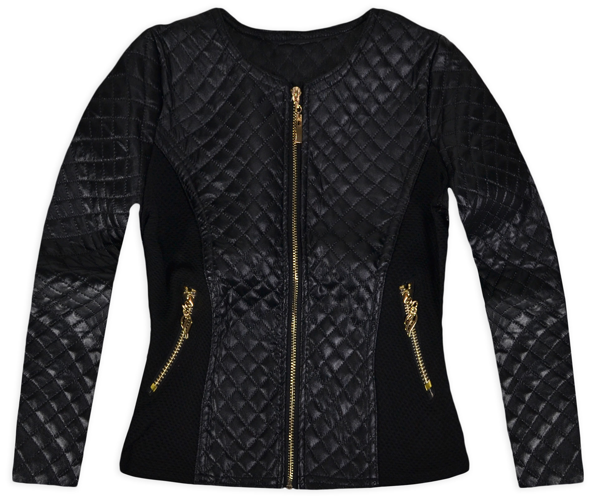 Girls Faux Leather Quilted Jacket New Kids Lightweight ...
