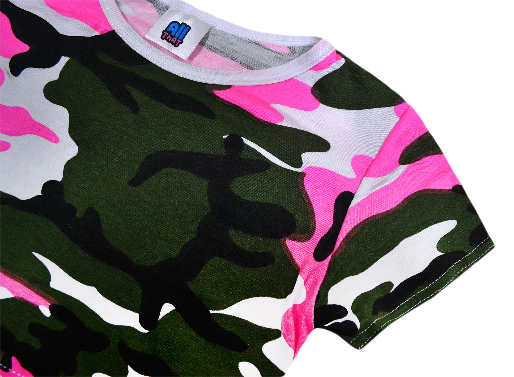 Boys T-Shirt Shorts Army Camo Neon Top Combat Outfit Summer Set 2 to 14 Years