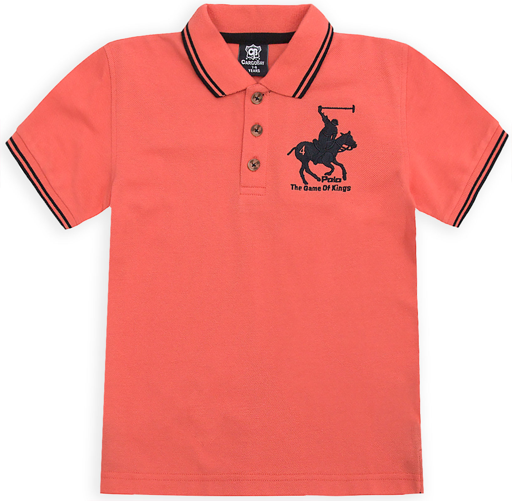 Boys-T-Shirt-Horse-Embroidery-Polo-Cotton-Top-Age-2-3-4-5-6-7-8-9-10-11-12-13-Yr thumbnail 9