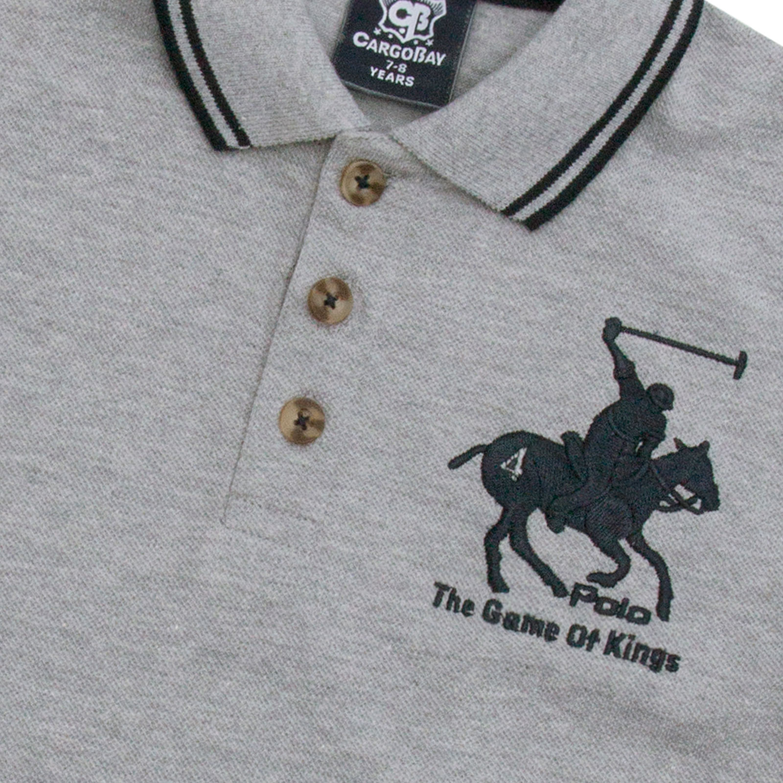 Boys-T-Shirt-Horse-Embroidery-Polo-Cotton-Top-Age-2-3-4-5-6-7-8-9-10-11-12-13-Yr thumbnail 19