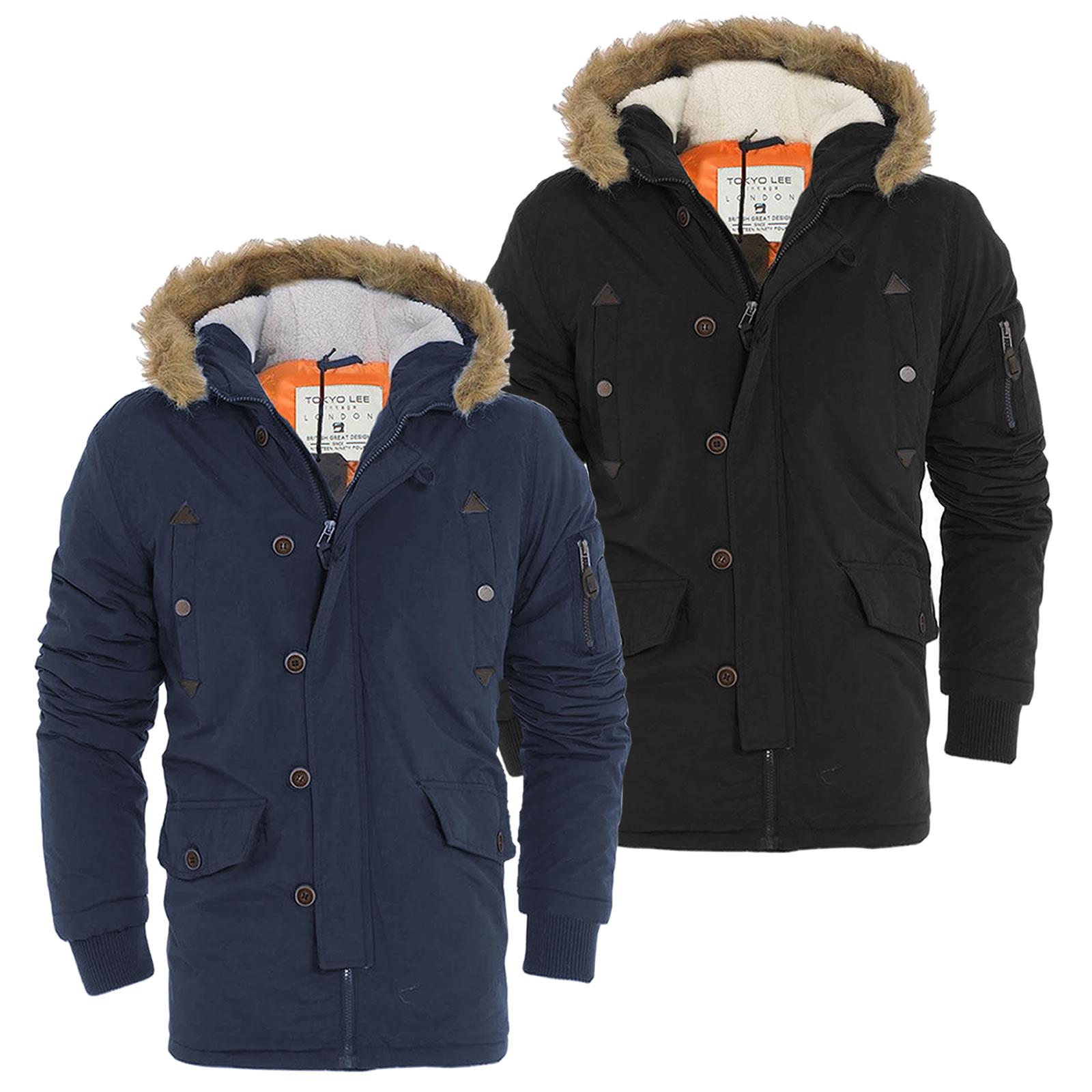 6f9ed534aae7 Cameron Parka Coat With Fur Trim Hood In Black Tokyo Laundry. Mens Real Fur  Parka Welovefurs