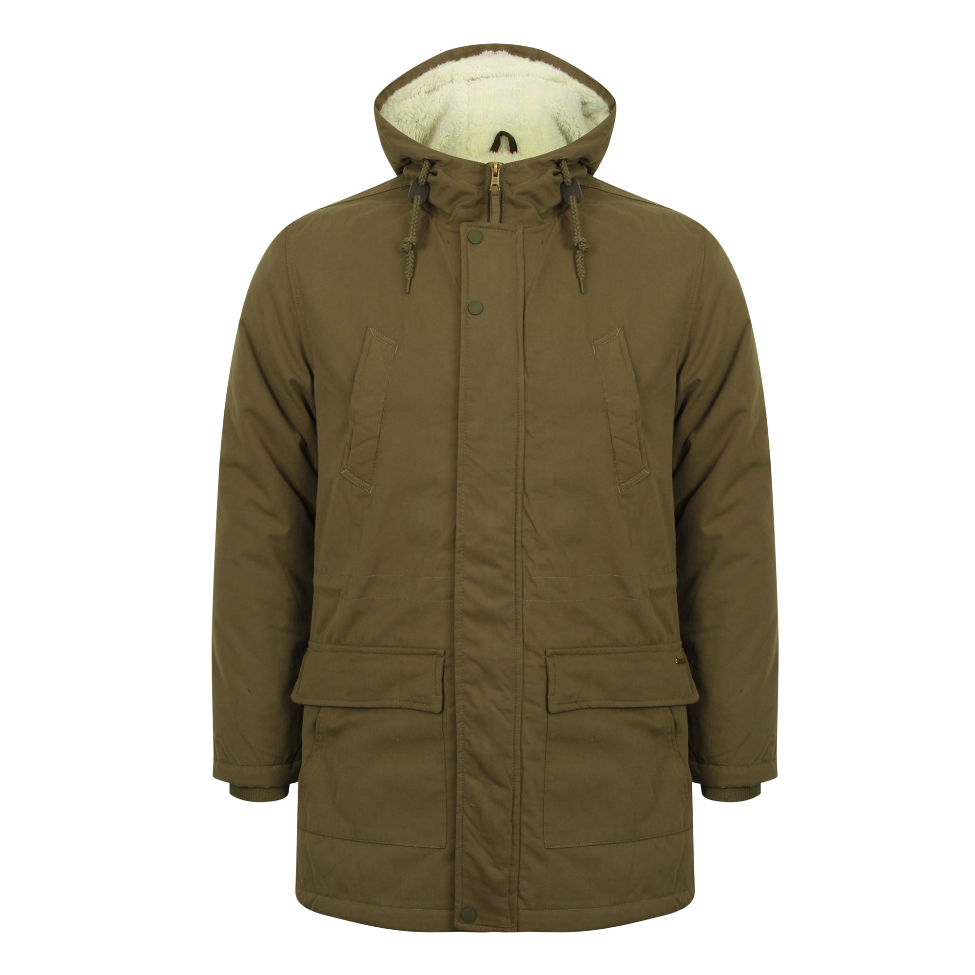 Mens Tokyo Laundry Parka Parker Padded Lined Winter Jacket