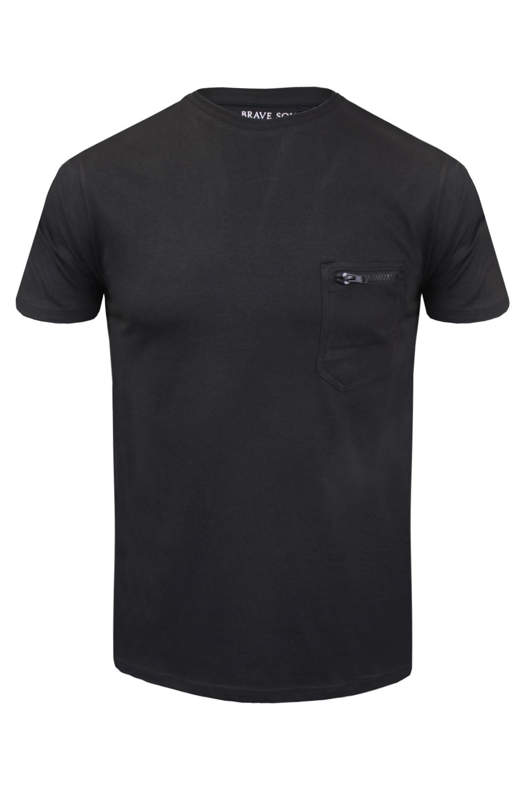 Mens Brave Soul /'Faustian/' Designer Crew Neck Cotton T-Shirt New S-XL