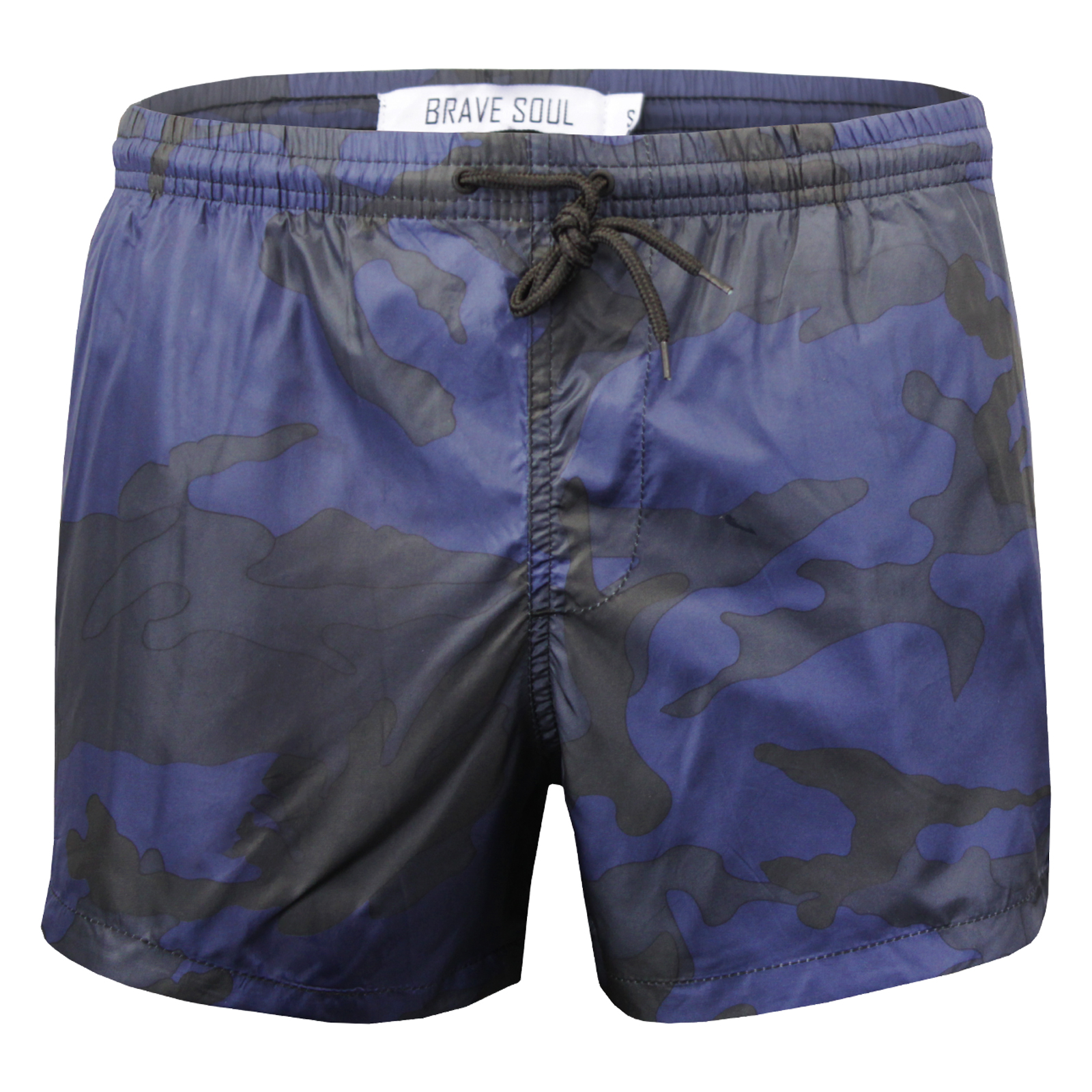 7217be5a11c3 Mens Brave Soul Short Leg Swim Shorts Camo Print Beach Wear New ...
