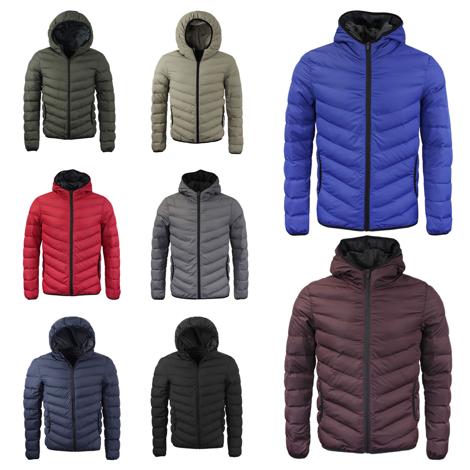 Brave Soul Smith Mens Hooded Gilet Body Warmer Hooded Padded Button Up Jacket