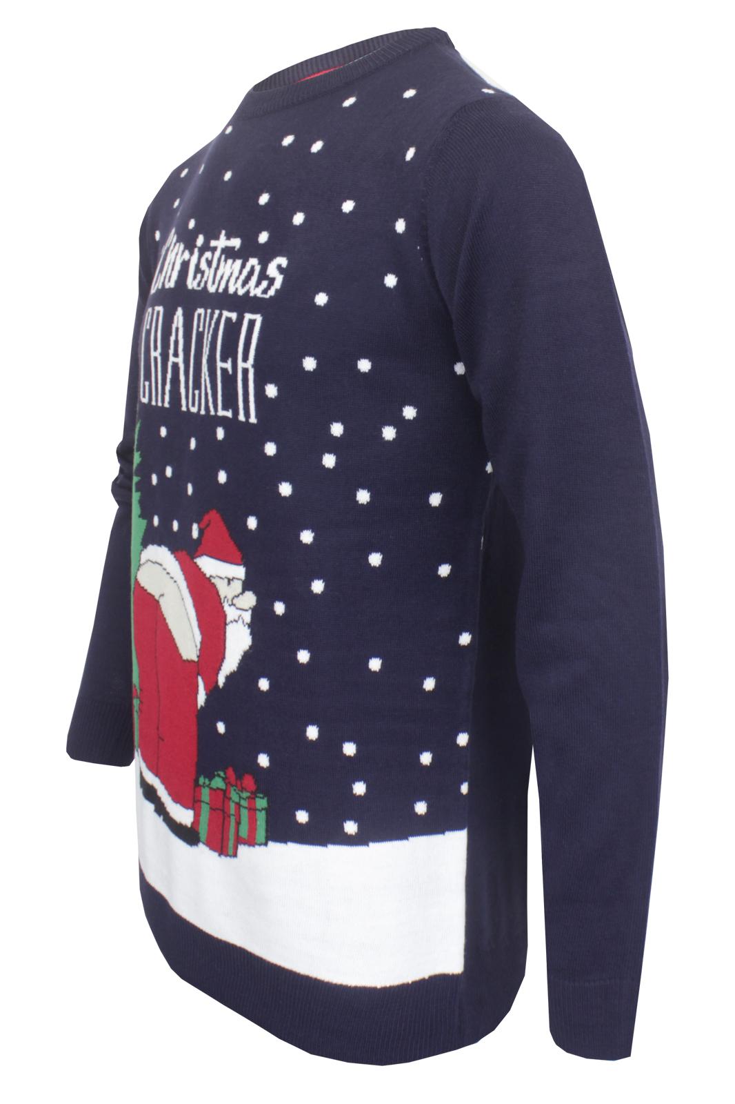 Mens Premium Xmas Jumper Broken Standard Christmas Cracker Funny S-XXL