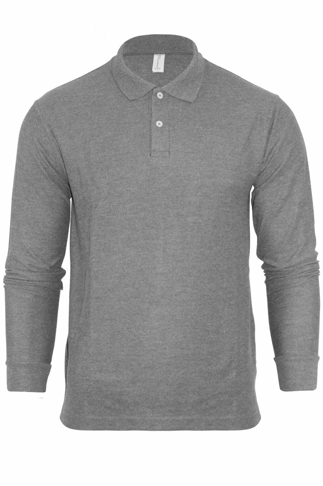 88878779267 Mens Plain Long Sleeve Collared Knitted Polo Shirt NEW Sizes M-XXL ...