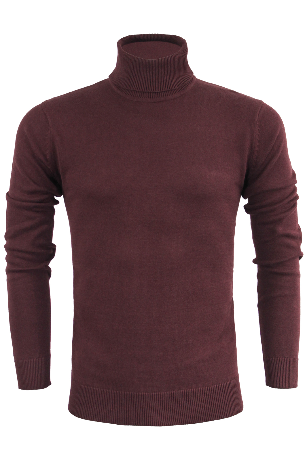 49283874e7c Details about Mens Jumper By Brave Soul Roll Neck Sweater Knitted Pullover  100% Cotton