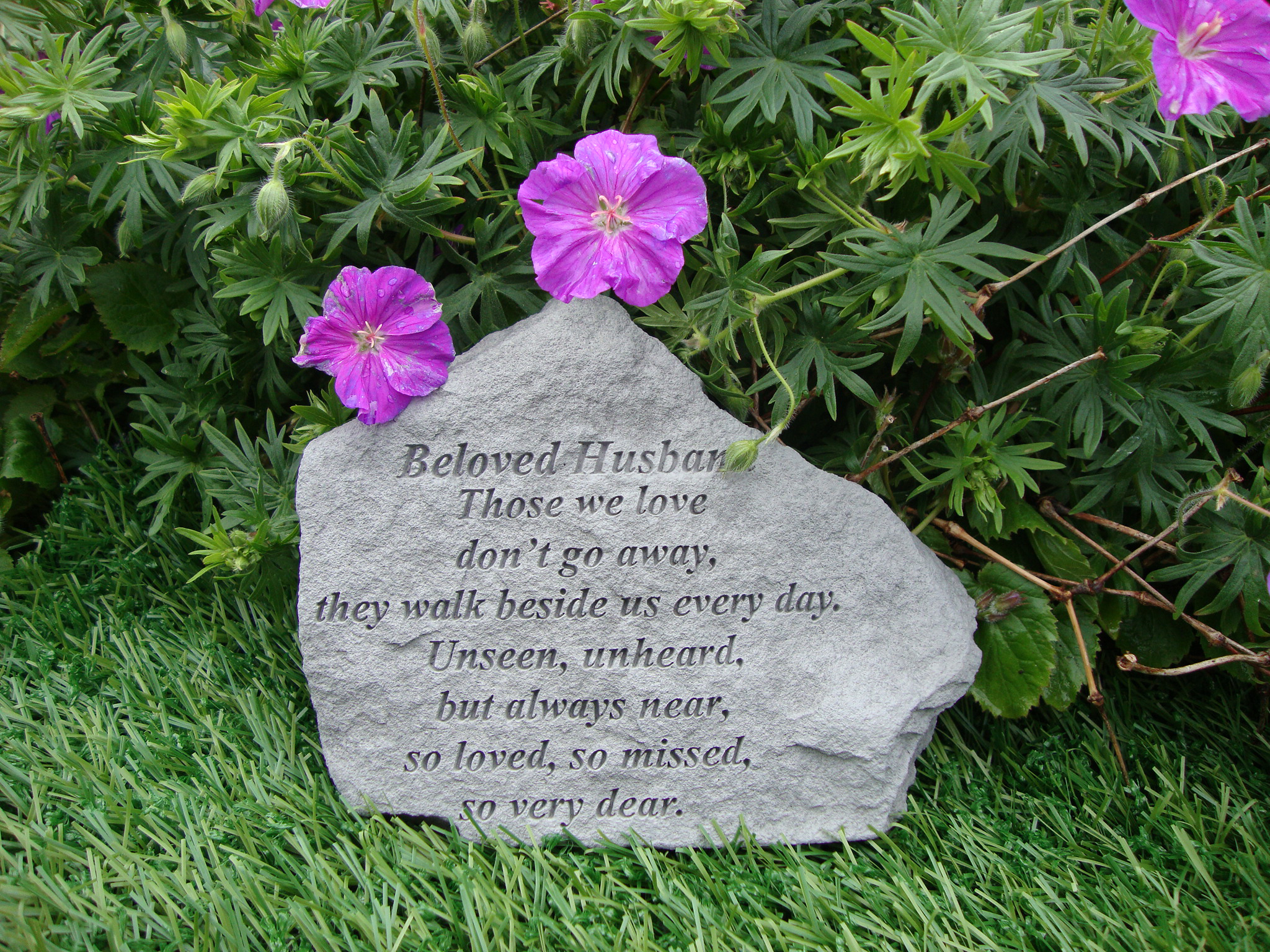 Beloved HUSBAND Memorial Garden Stone Plaque Grave Marker Ornament  Churchyard