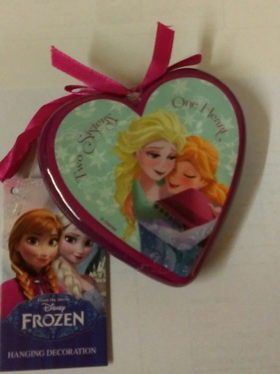 Disney Frozen cintre en forme de coeur-deux soeurs d/'un coeur-Décoration de Noël