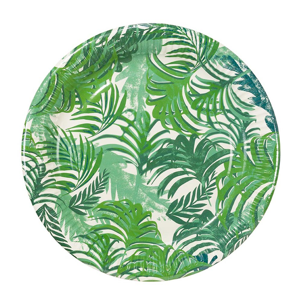 12 x Palm Tree paper Party Plates Tropical Hawaiian Party Theme Lovely Quality  sc 1 st  eBay & 12 x Palm Tree paper Party Plates Tropical Hawaiian Party Theme ...