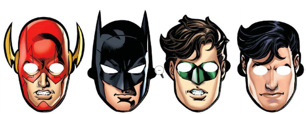 8 X die Liga der Gerechten Masken Kinderparty Verkleidung / Geschenk ...