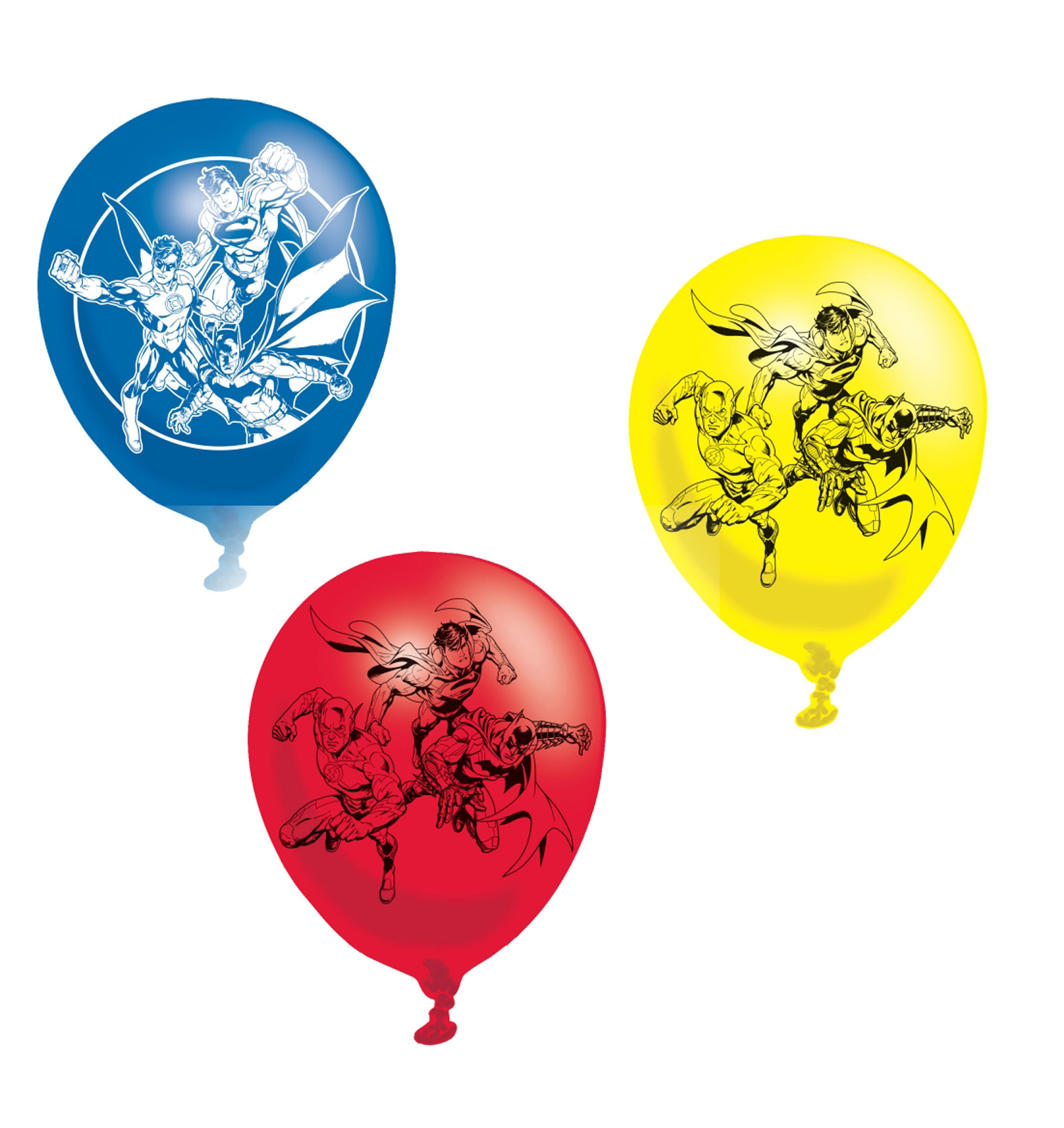 Justice league latex balloons childrens party