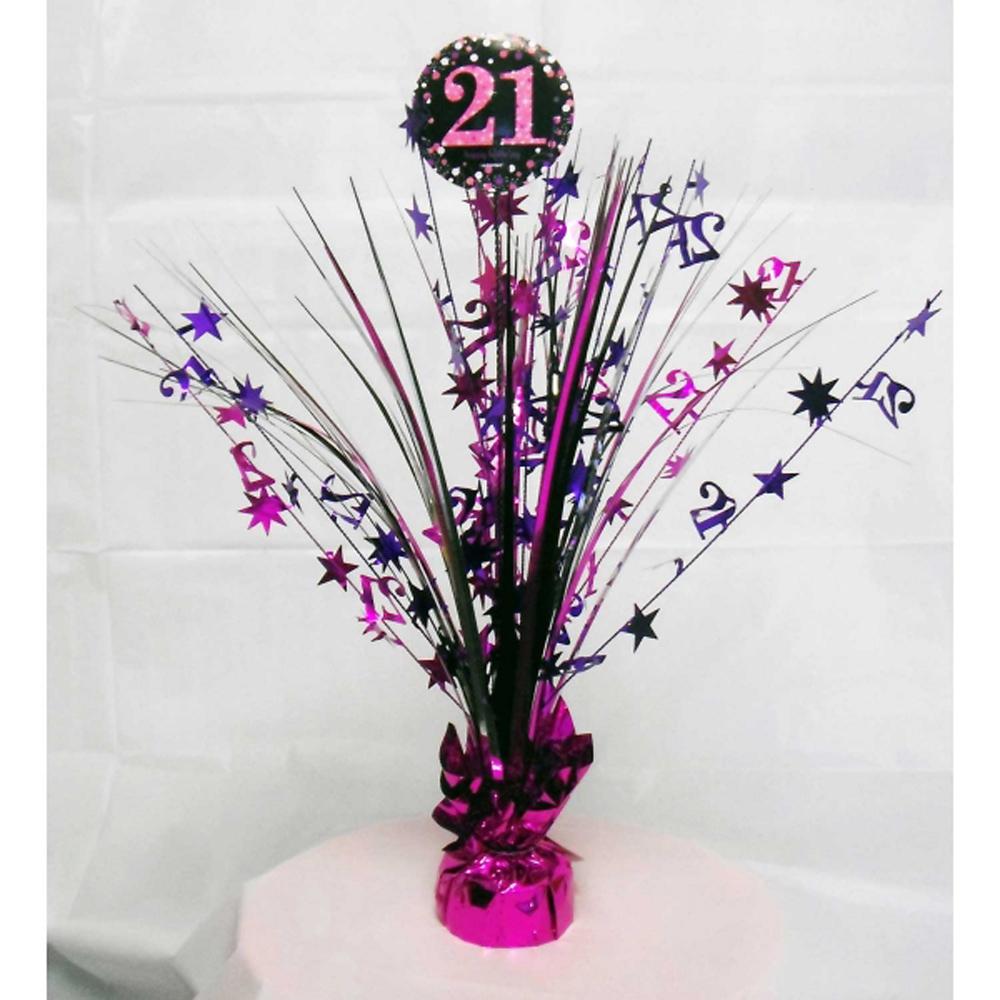 21st Birthday Spray Centrepiece Table Decoration Black