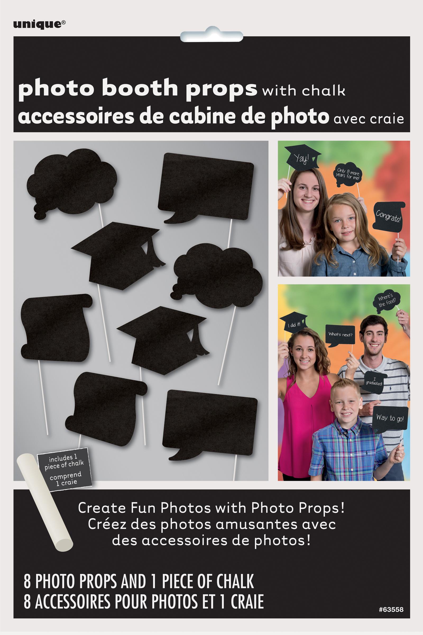 8 graduation chalkboard photo props black props white chalk to