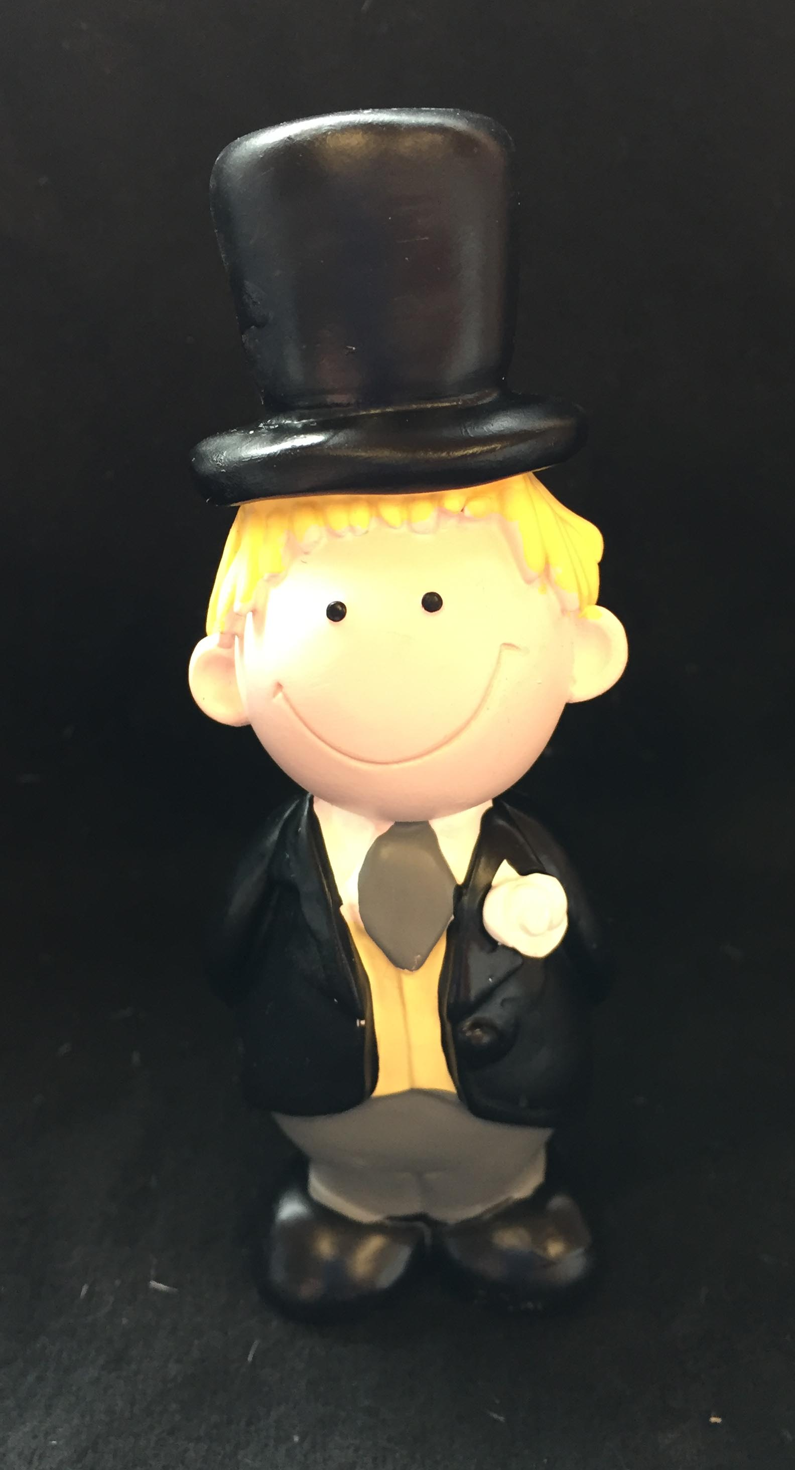 Blonde Hair Groom Wedding Cake Topper Decoration Fair Hair ...