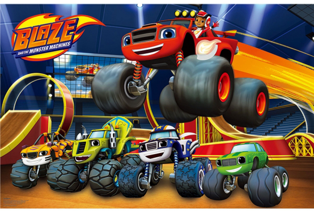 Blaze monster trucks party game play like pin the tail on