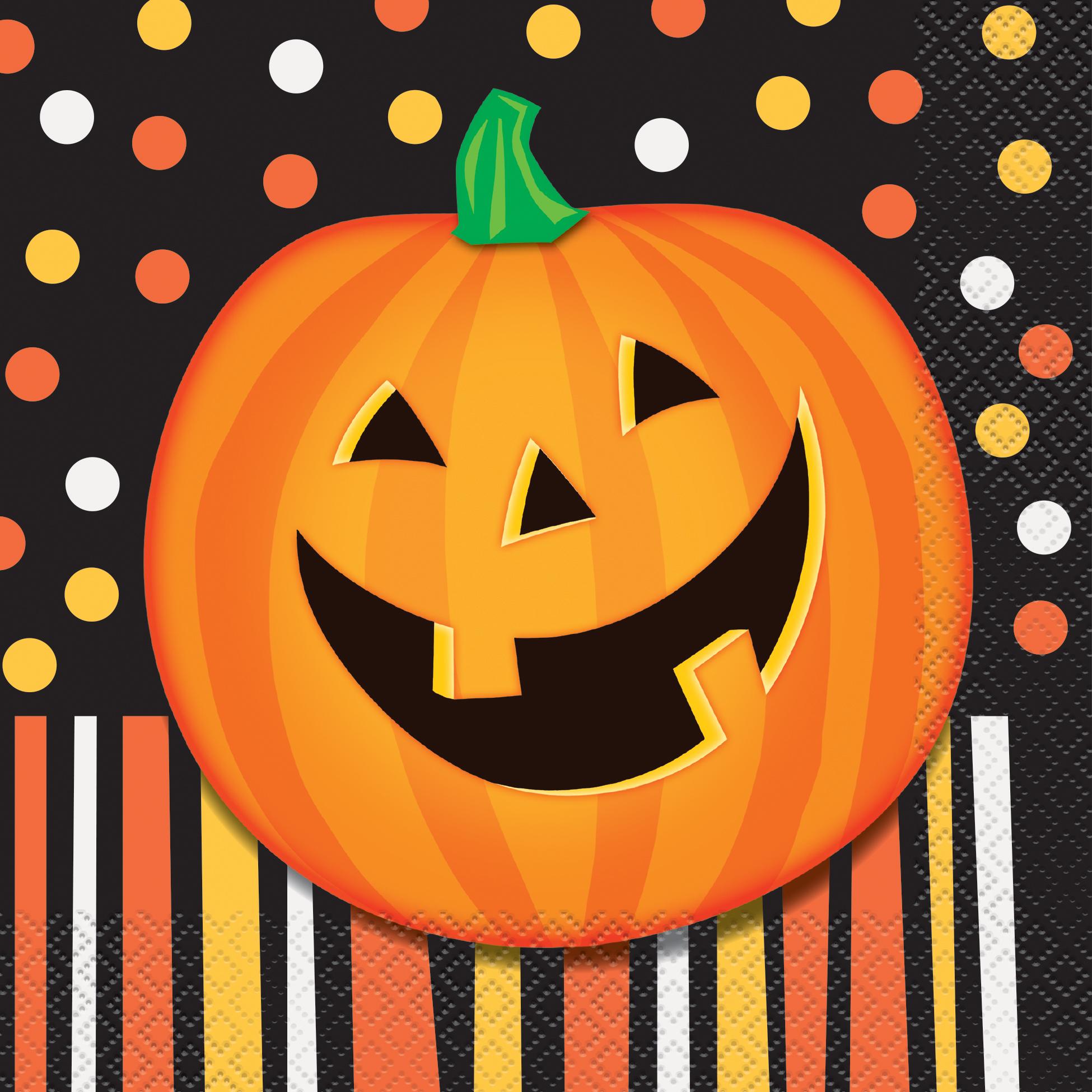 Immagine Zucca Di Halloween 94.Dettagli Su 16 X Economici Zucca Di Halloween Tovaglioli Halloween Arancione E Nero