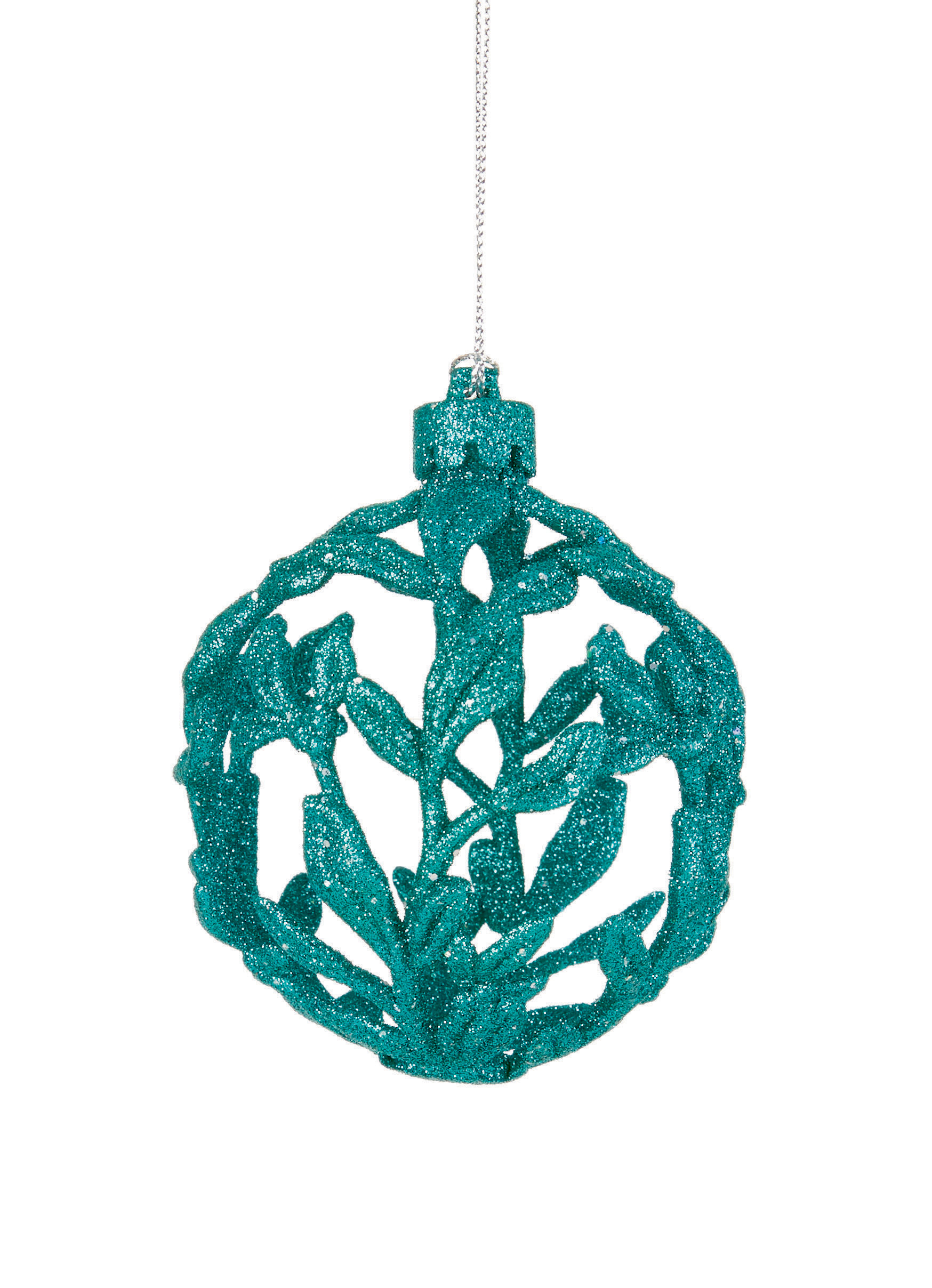 Turquoise d filigree baubles christmas tree hanging