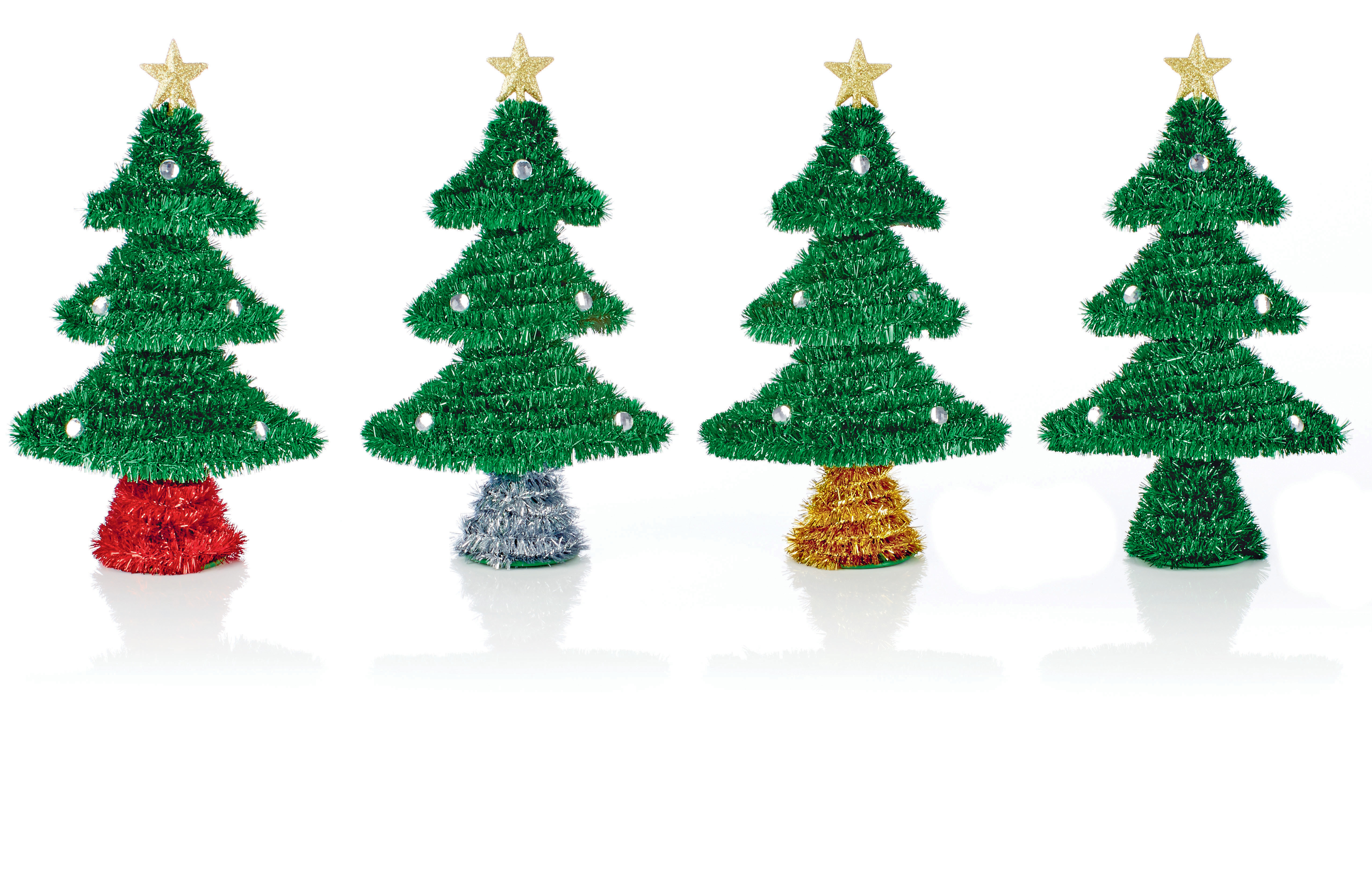 6 X CHEAP Large Tinsel Christmas Tree Baubles Christmas