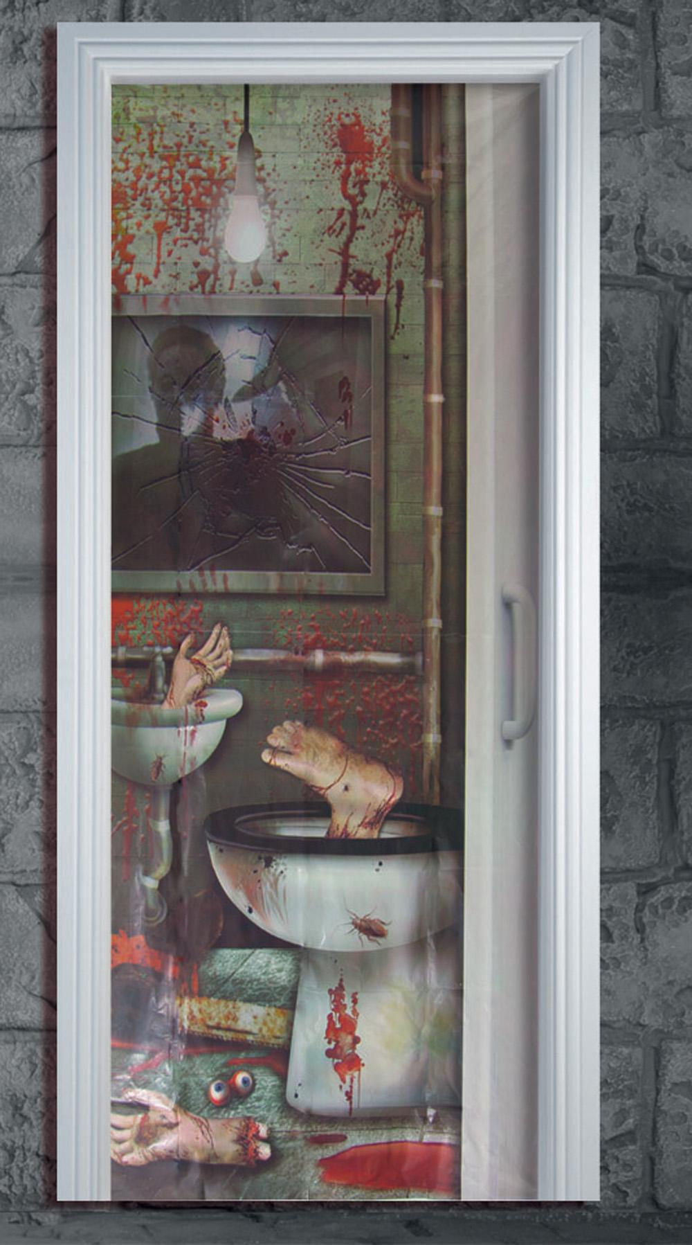 Affiche Salle De Bain ~ halloween salle de bain wc affiche porte d coration pour f te