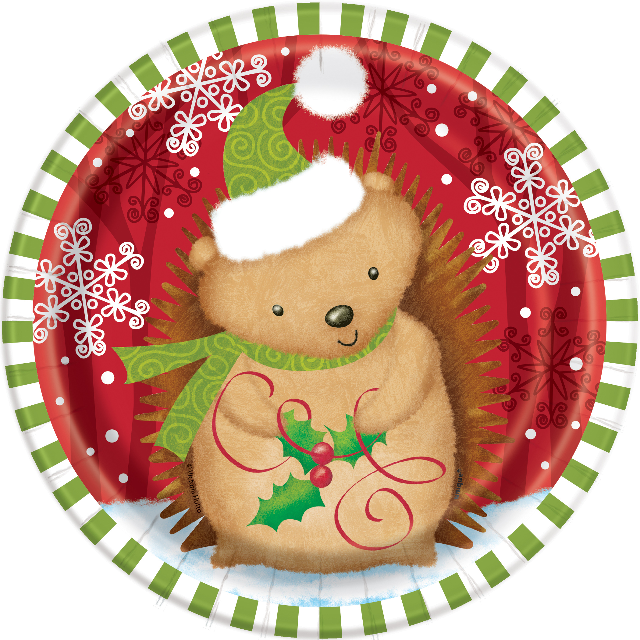 Christmas Party Paper Plates Part - 24: 8 X Woodland Christmas Party Paper Plates Small Dessert Buffet Size FREE Pu0026P