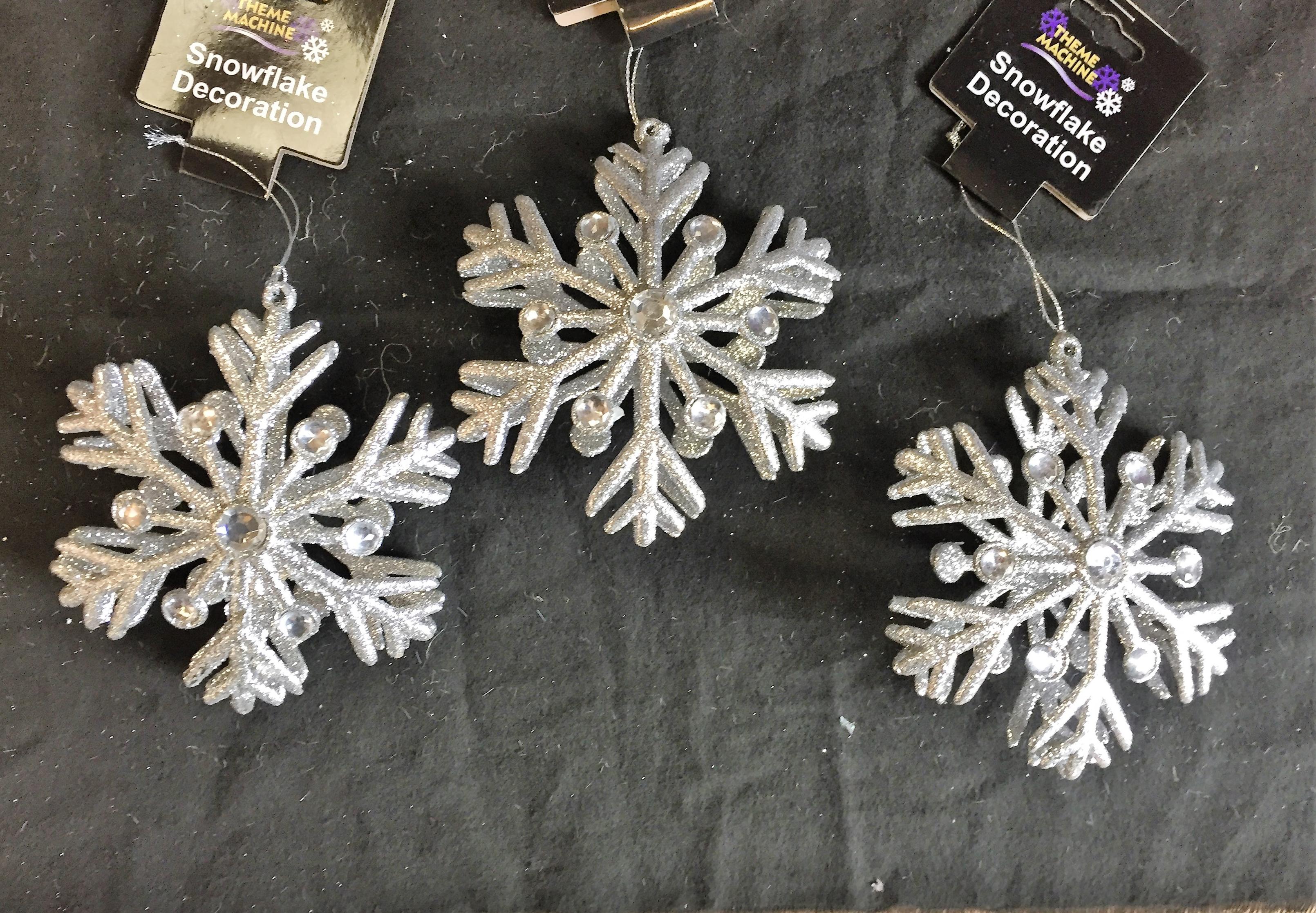 Fiocchi Di Neve Di Carta 3d : Grande argento strass d fiocco di neve con glitter ebay
