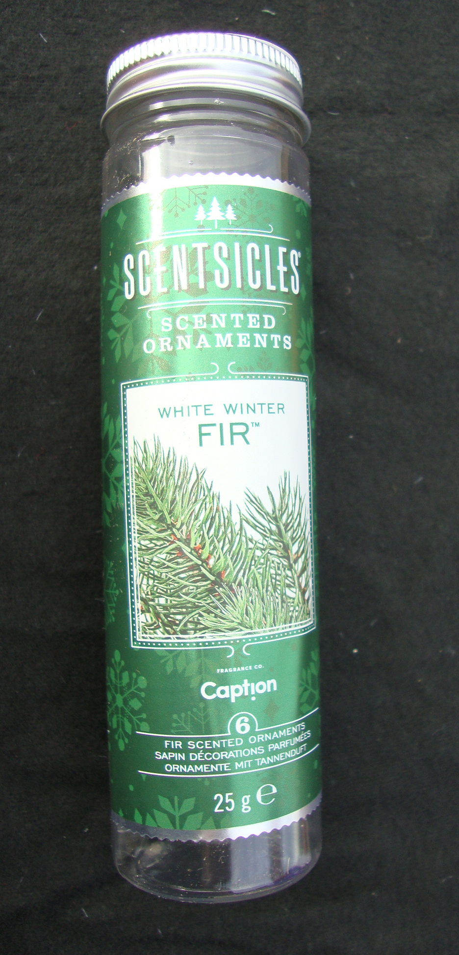 6 x scentsicles scented hanging sticks white winter fir christmas tree scent