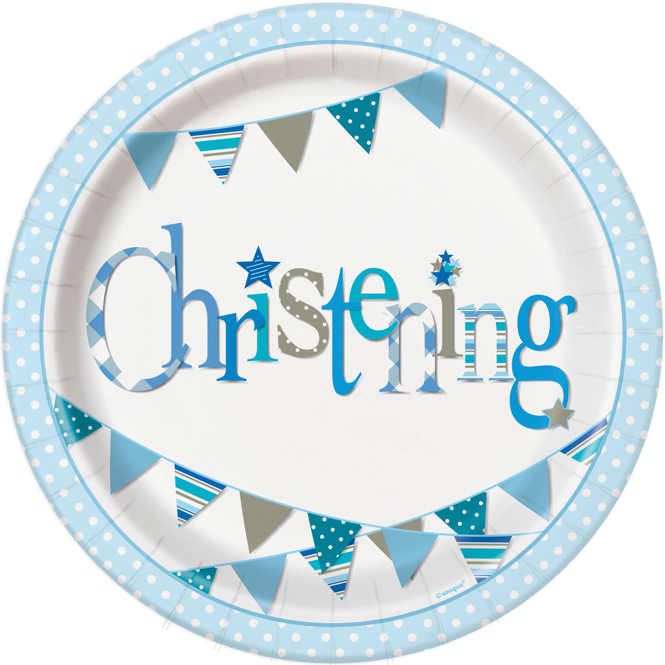 8 x Blue Christening Paper Plates - Pretty Boys Christening Party Tableware  sc 1 st  eBay & 8 x Blue Christening Paper Plates - Pretty Boys Christening Party ...