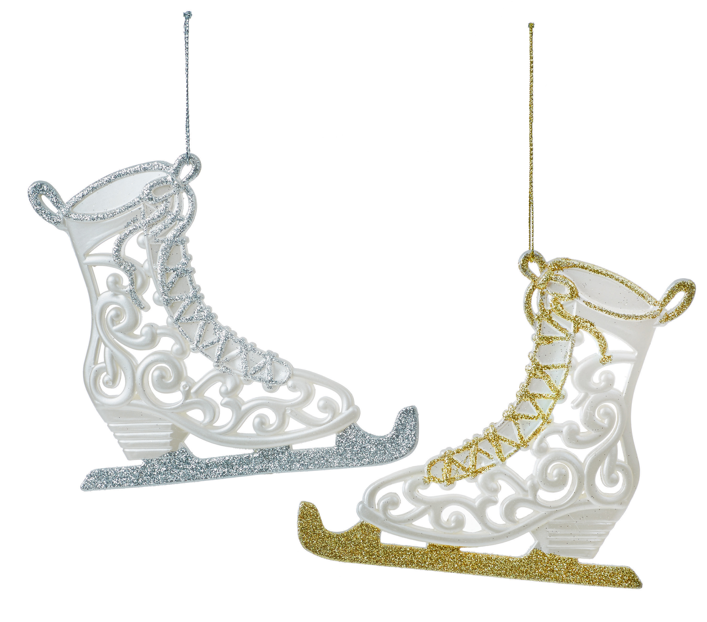 6 x Ice Skate Skaing Boots Hanging Baubles Christmas Tree ...