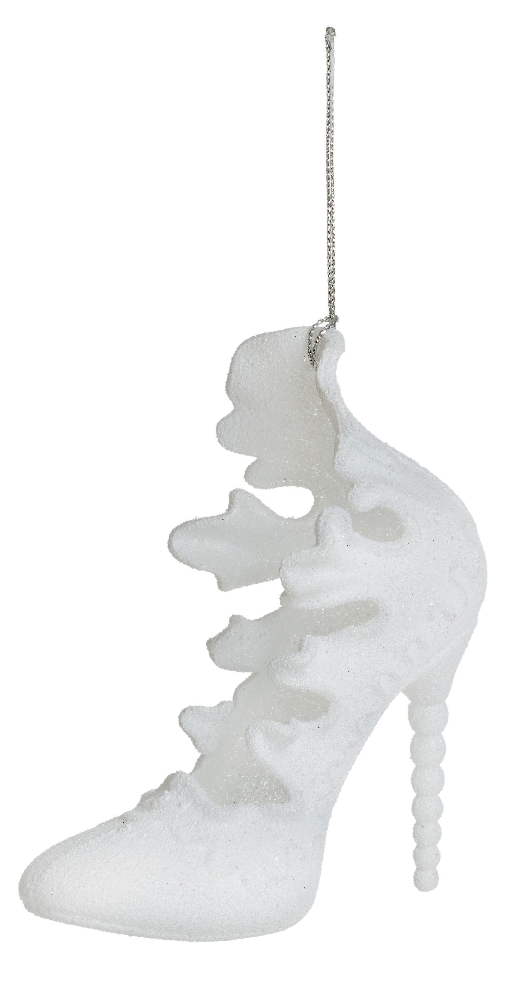 d12bfa1258c 3 blanco 3D zapato del alto talón colgando adornos adornos árbol de Navidad  decoración