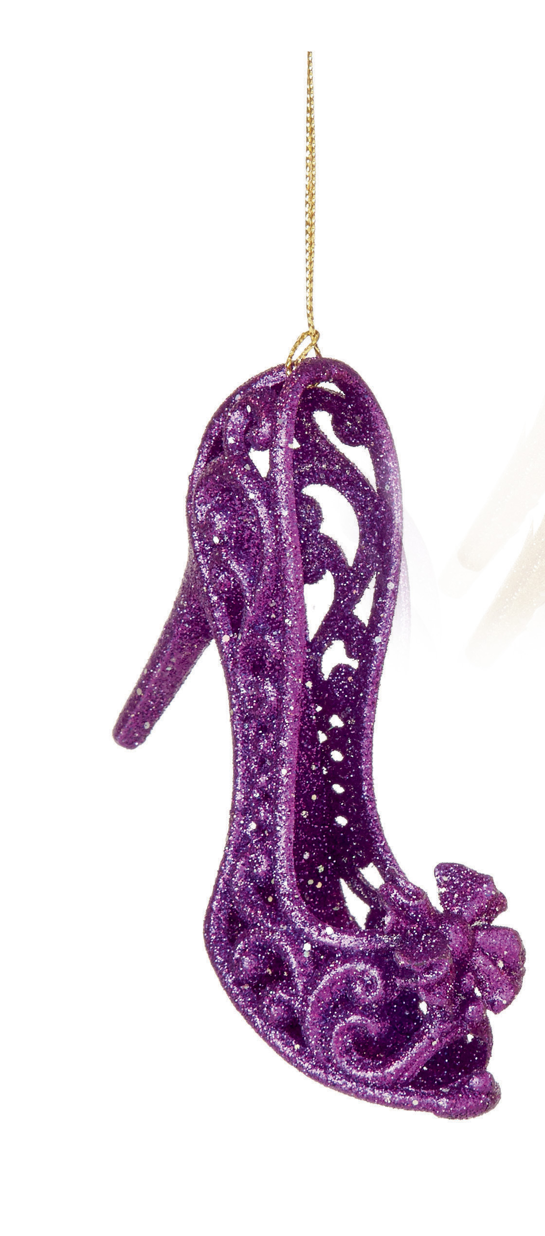 Purple Christmas Tree.Details About 3 X Purple 3d Shoe Hanging Decorations Baubles Christmas Tree Hanging Decoration