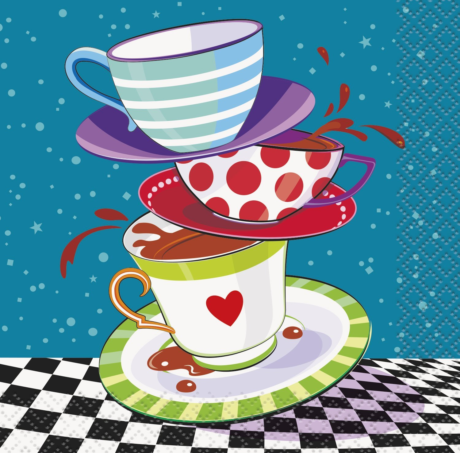 16 Alice In Wonderland Beverage Cocktail Napkins Mad Hatters Tea