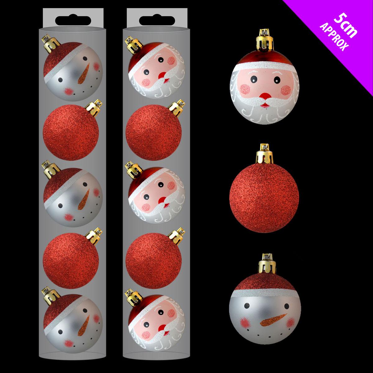 10 CHEAP Christmas Glittery Santa Snowman Red Christmas