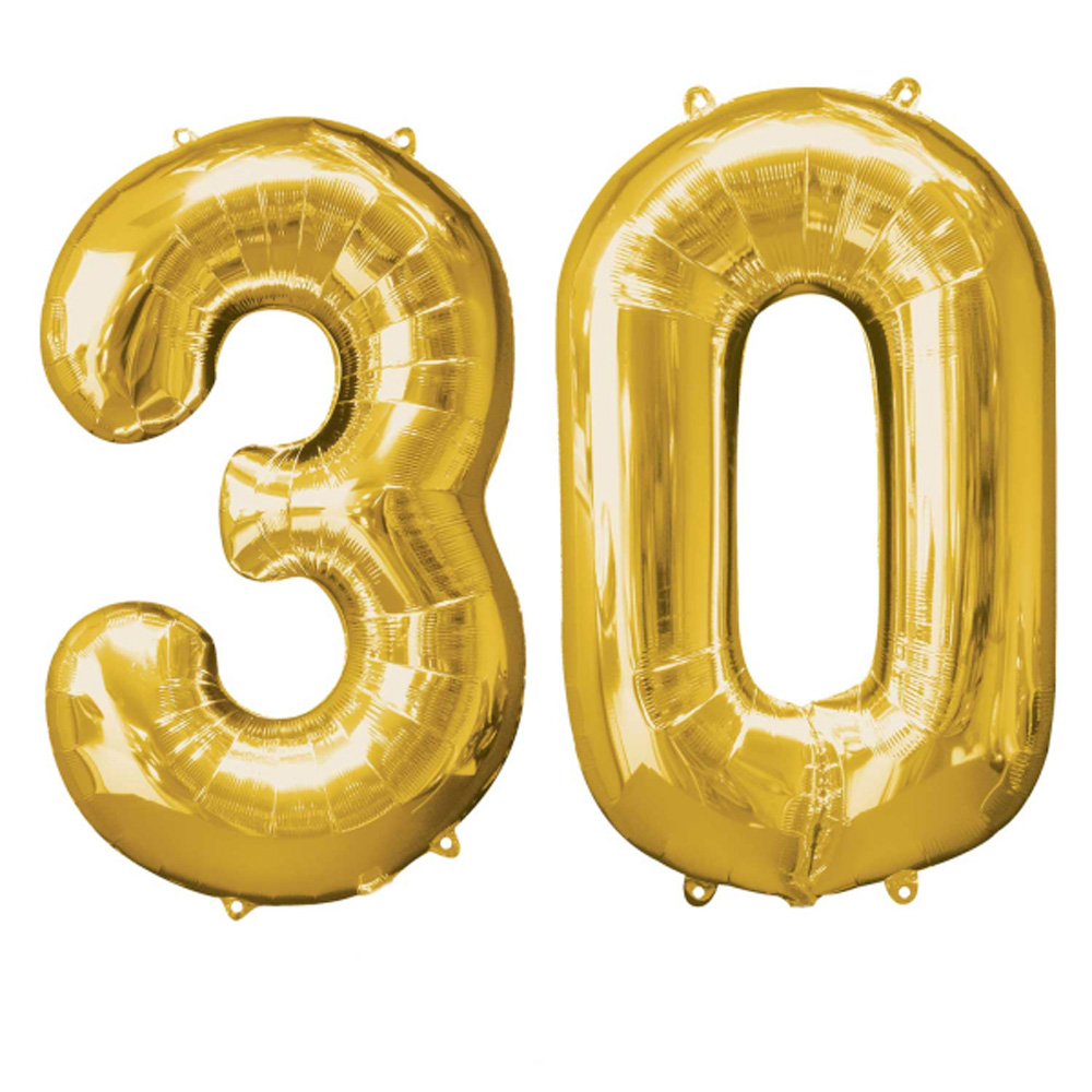 Extra Large Gold 30th Birthday Foil Balloon Party
