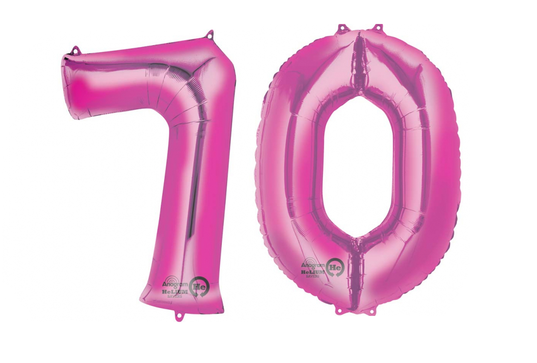 Extra Large Pink 70th Birthday Foil Balloon Party Decorations Age 70 Numbers