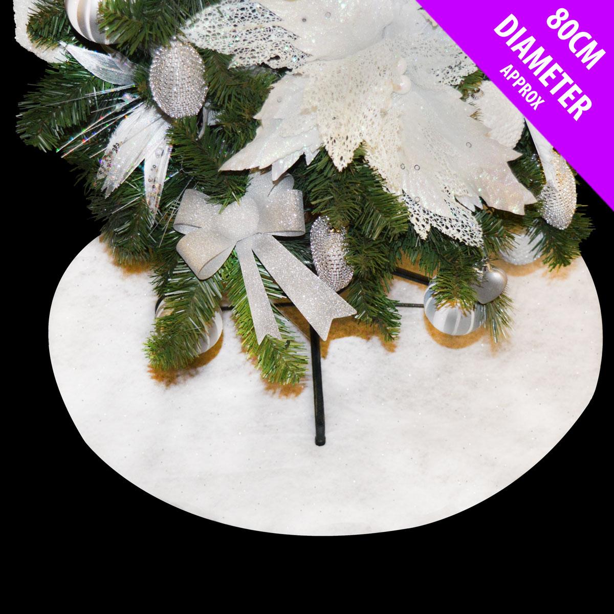 Christmas fake snow blanket tree skirt