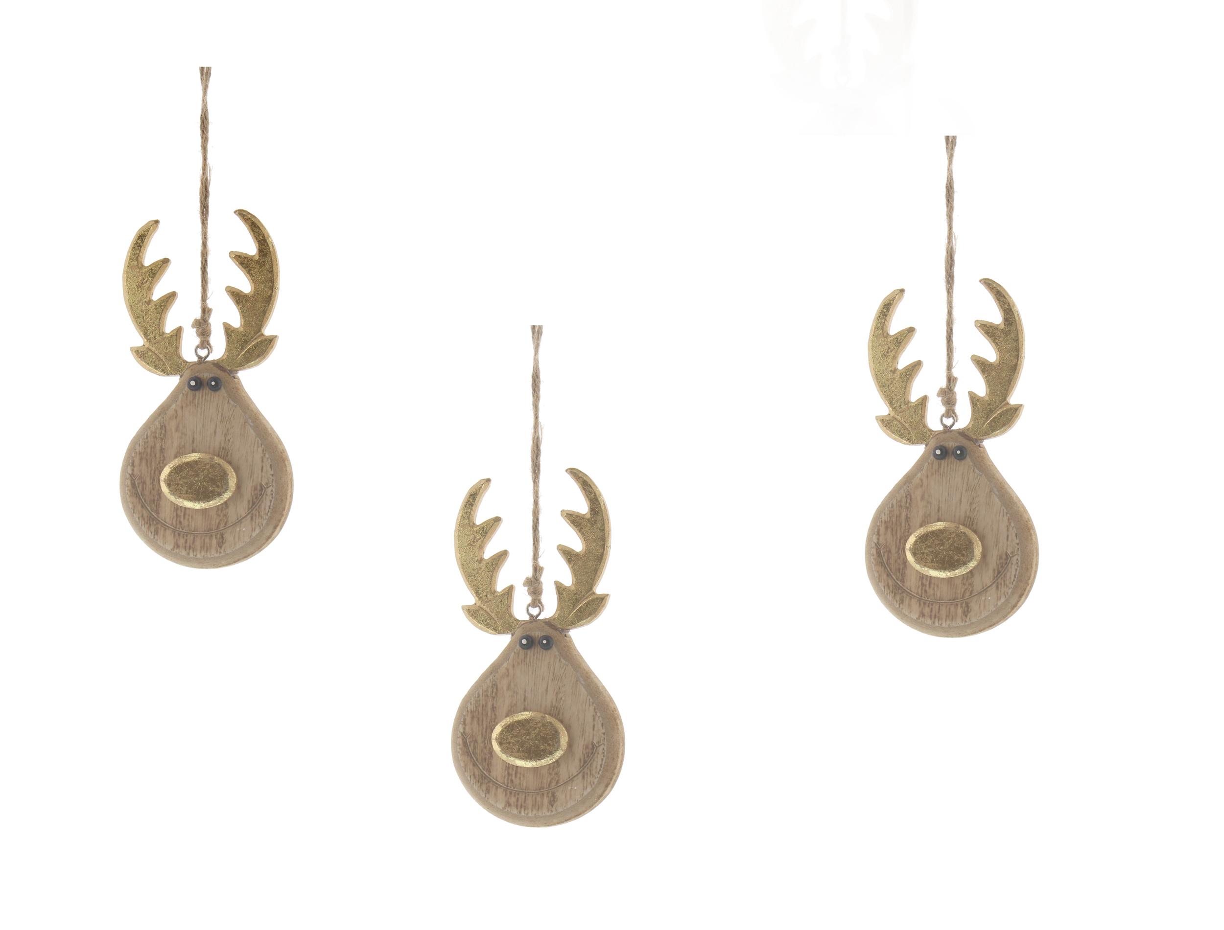 Alberi Di Natale In Legno Da Appendere : Legno naturale renna scandi albero di natale decorazioni da