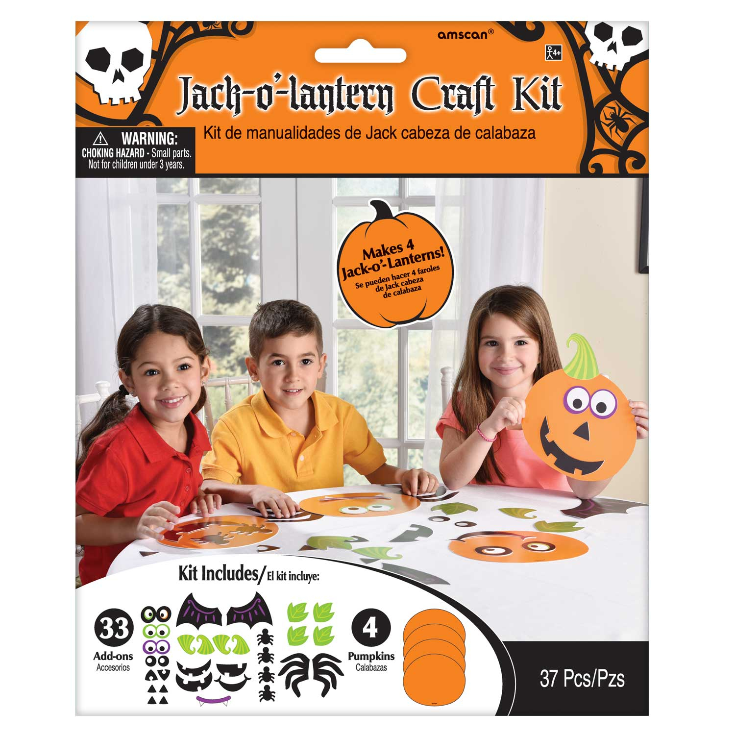 Jack O Laterne Halloween Kinder Aktivität Kürbis Faces Dekoration ...